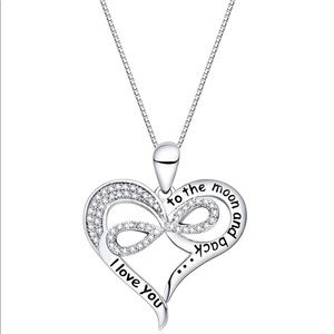 I Love You to The Moon & Back Love Heart Necklace